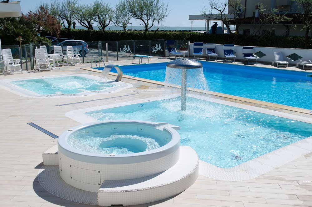 Piscine Albergo Hotel Mexico Bellaria Igea Marina per famiglie