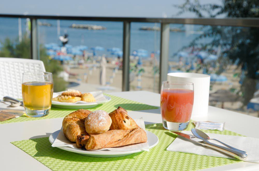 Colazione con vista sul mare Hotel Mexico Bellaria