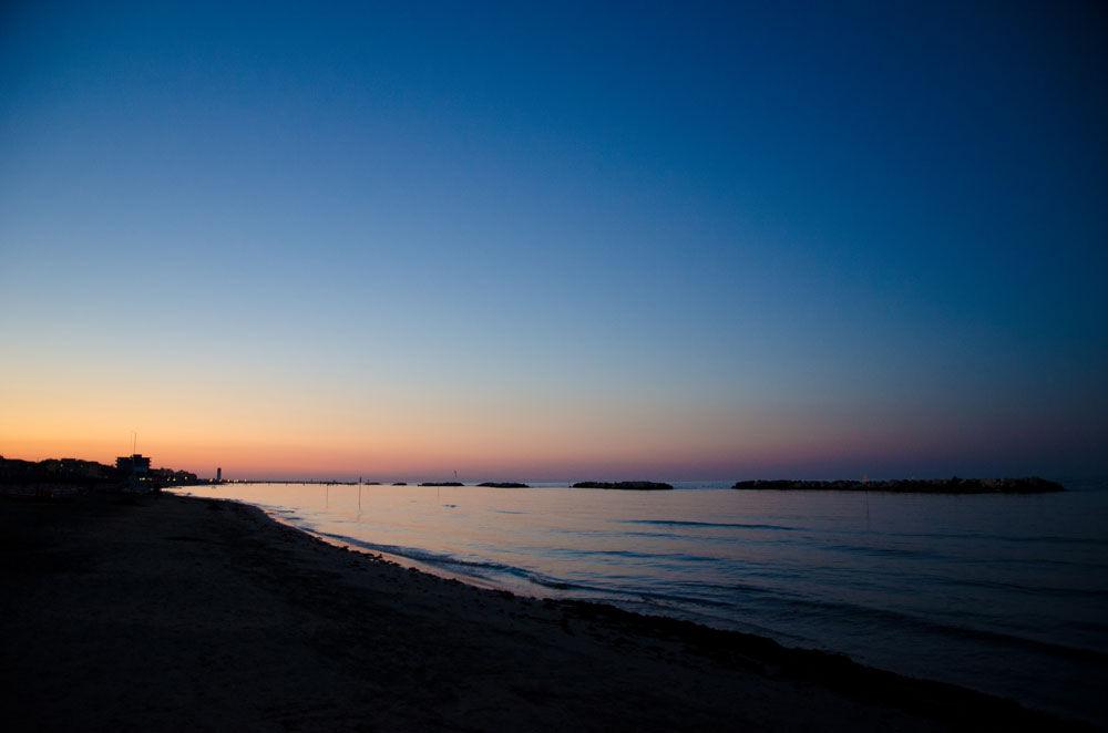 Vista notturna Spiaggia Bellaria